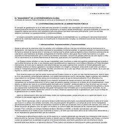 VI. La Internacionalización de la Administración Pública