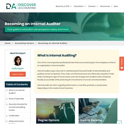 Internal Auditing - Internal Auditor Career, Salary & Degree Guide - Discover Accounting
