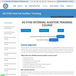 Online AS 9100 Internal Auditor Course
