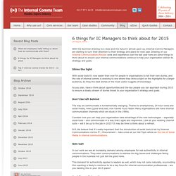 The Internal Comms Team » 6 things for IC Managers to think about for 2015