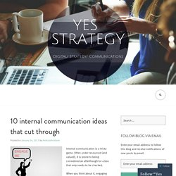 10 internal communication ideas that cut through
