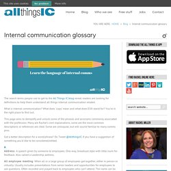 Internal communication glossary