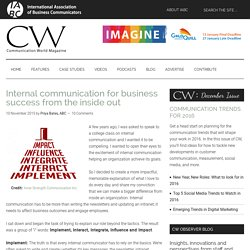 Internal communication for business success from the inside out