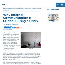 Why Internal Communication Is Critical During a Crisis
