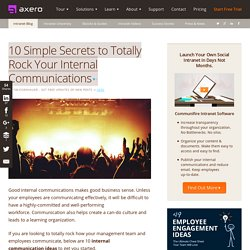 Internal Communication Ideas & Tips to Rock Internal Comms