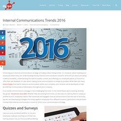 Internal Communications Trends 2016