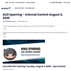 CPA Exam Tutors: AUD CPA Tutor - Internal Control