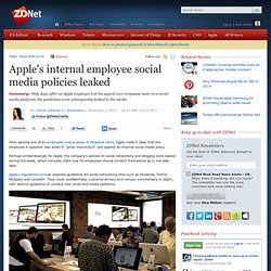 Apple's internal employee social media policies leaked