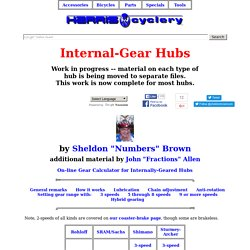 Internal-Gear Hubs