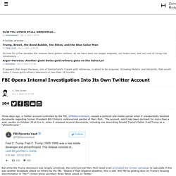 FBI Opens Internal Investigation Into Its Own Twitter Account