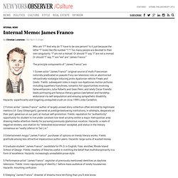 Internal Memo: James Franco