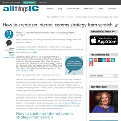 How to create an internal comms strategy from scratch