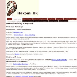 What's on - Hakomi UK's and Internal Family Systems (IFS) Training Courses and other Events - Sheffield, England