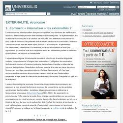 EXTERNALITÉ, économie, Comment « internaliser » les externalités ?