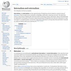 Internalism and externalism