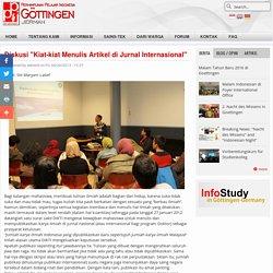 """Diskusi """"Kiat-kiat Menulis Artikel di Jurnal Internasional"""""""