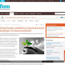 Nederlandse bedrijven internationaal koploper in duurzaamheid - Facility Management Magazine