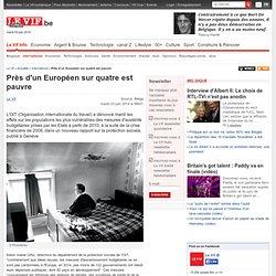 Près d'un Européen sur quatre est pauvre