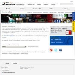 International address formats, correct address formatting with AddressDoctor