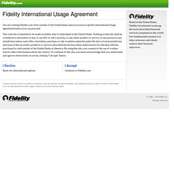 Online Trading, ETFs, Mutual Funds, IRAs & Retirement - Fidelity