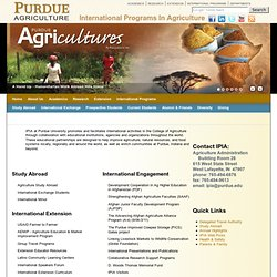 Welcome to International Programs in Agriculture