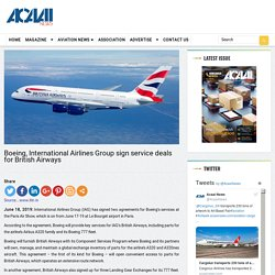 Boeing, International Airlines Group sign service deals for British Airways