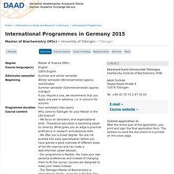International Programmes