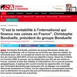 """""""C'est la rentabilité à l'international... - Epicerie, alimentation"""