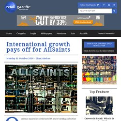 International growth pays off for AllSaints - Retail Gazette