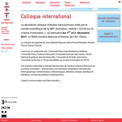 Colloque international - NEF Animation