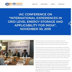 International Experiences in Grid Level Energy Storage and Applicability for India - USISPF