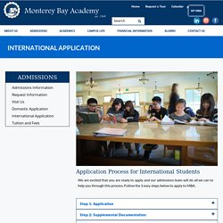 Application Process for International Students