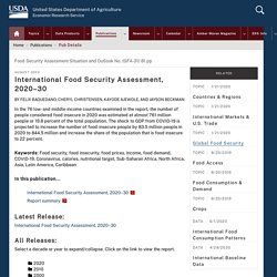 ERS USDA - AOUT 2020 - International Food Security Assessment, 2020–30