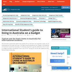 International Student's guide to living in Australia on a budget