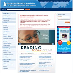 International Reading Association home page