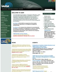 Welcome to IAEM.COM- International Association of Emergency Managers