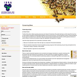 Conserving Bees - International Bee Research Association