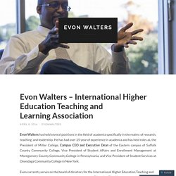 Evon Walters – International Higher Education Teaching and Learning Association