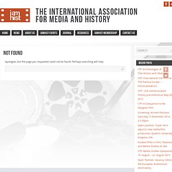 Lost Films - The International Association for Media and History