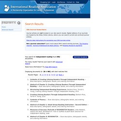 International Reading Association : Search Results