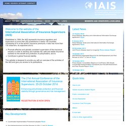 IAIS - International Association of Insurance Supervisors - International Association of Insurance Supervisors