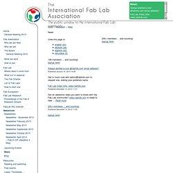 Newsroom - News - International Fab Lab Association