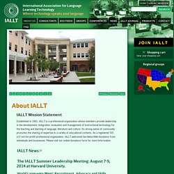 IALLT | International Association for Language Learning Technology Where technology speaks your language