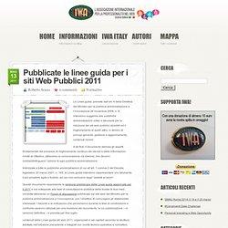 Pubblicate le linee guida per i siti Web Pubblici 2011 » International Webmasters Association