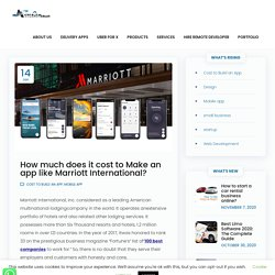 How much does it cost to Make an app like Marriott International? - AsterismInfosoft