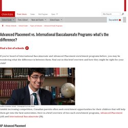 Advanced Placement vs. International Baccalaureate Programs: What's the Difference?