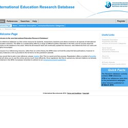 International Education Research Database