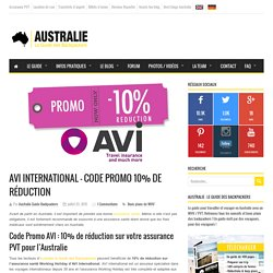 AVI International – Code Promo 10% de réduction