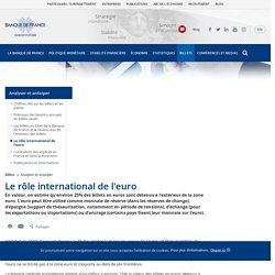 Le rôle international de l'euro