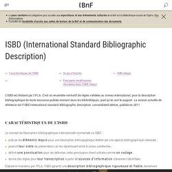 ISBD (International Standard Bibliographic Description)